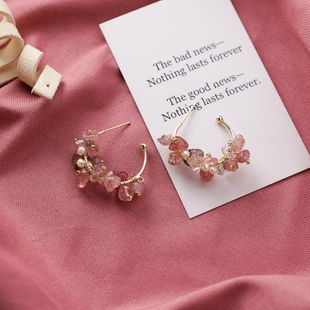 925 silver needle Japanese and Korean retro art handmade irregular stone earrings stone earrings NHMS174912's discount tags
