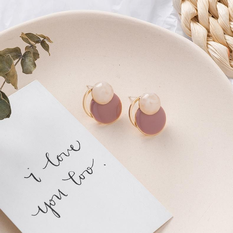 925 silver needle geometric design amber pattern earrings retro wind earrings NHMS174920