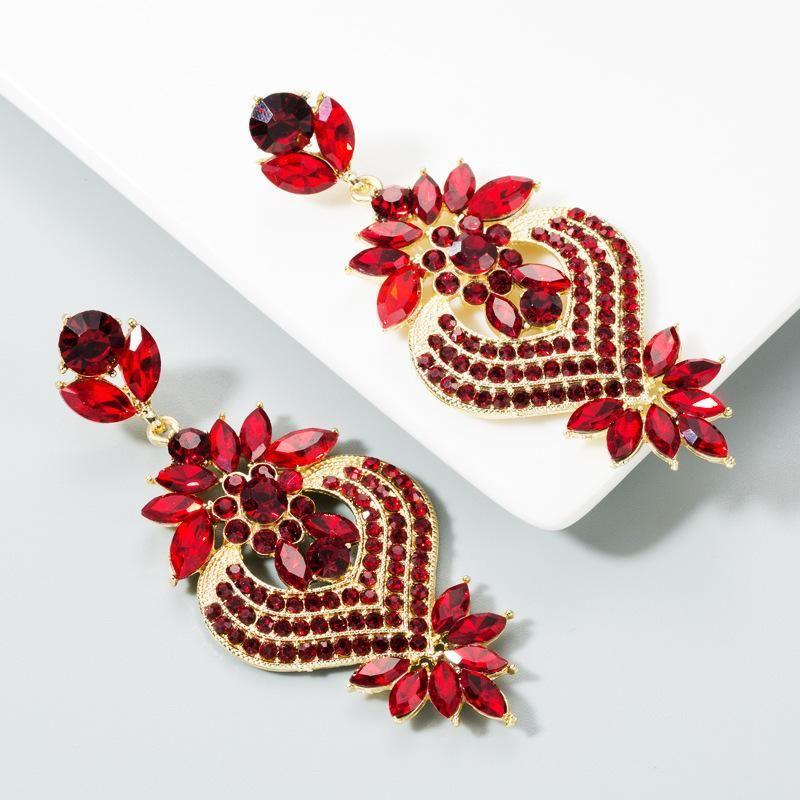 Multilayer earrings womens alloy studded boho NHLN174852