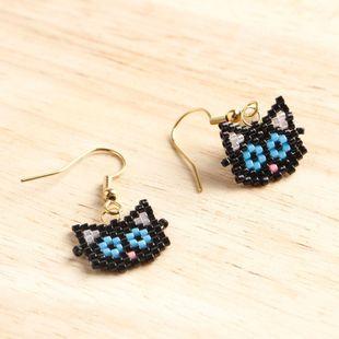 Earrings weave Miyuki kitten NHGW175111's discount tags