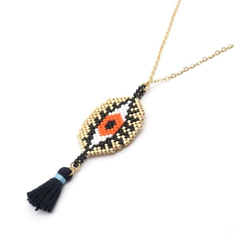Turkish magic eye necklace hand-woven eyes NHGW175125's discount tags