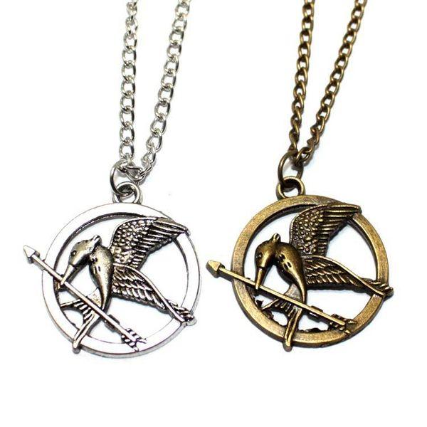 Hunger game mocking bird trumpet necklace NHPV175169