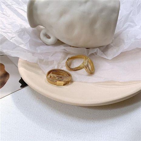 Bague serpent minimaliste enrobée d'os double cuivre NHYQ174958's discount tags
