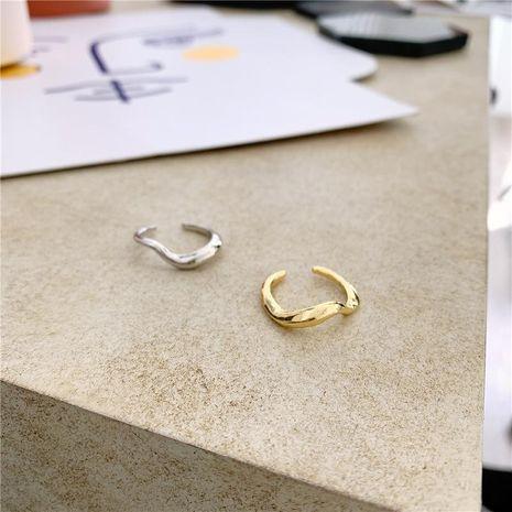 Bague minimaliste irrégulière courbe incurvée lisse réglable NHYQ175001's discount tags