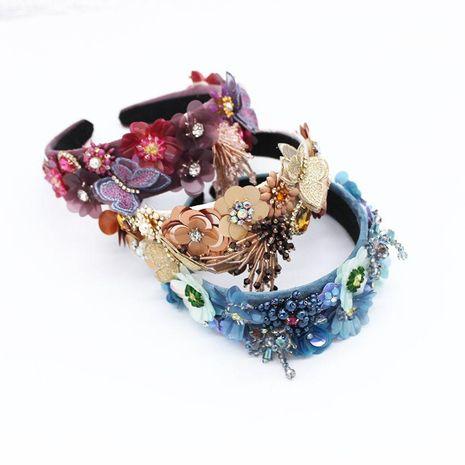El temperamento de la moda europea y americana escala la danza de la diadema de borla de flores NHWJ175021's discount tags