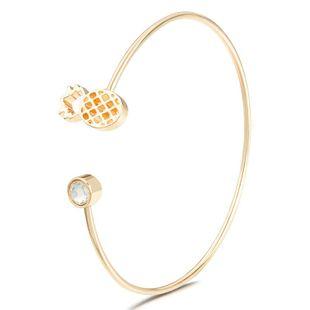 Female angry quality pineapple diamond crystal gemstone bracelet NHDP175048's discount tags