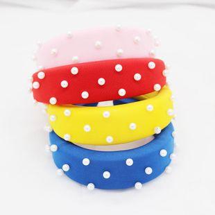 Nueva moda coreana temperamento exagerado esponja perla diadema viaje de ocio NHWJ175026's discount tags