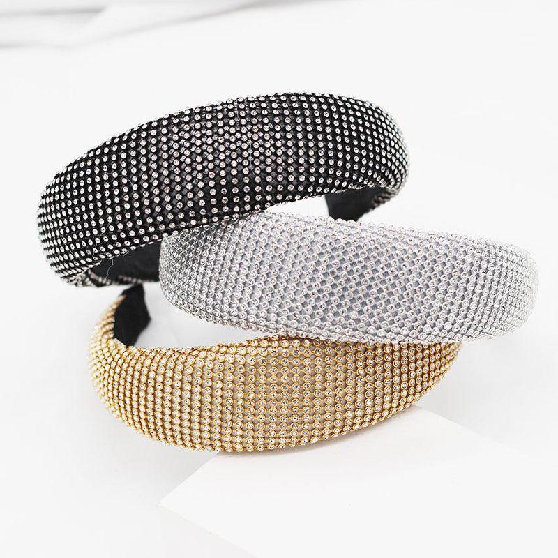 New European and American Baroque full diamond three-color wild temperament headband NHWJ175031