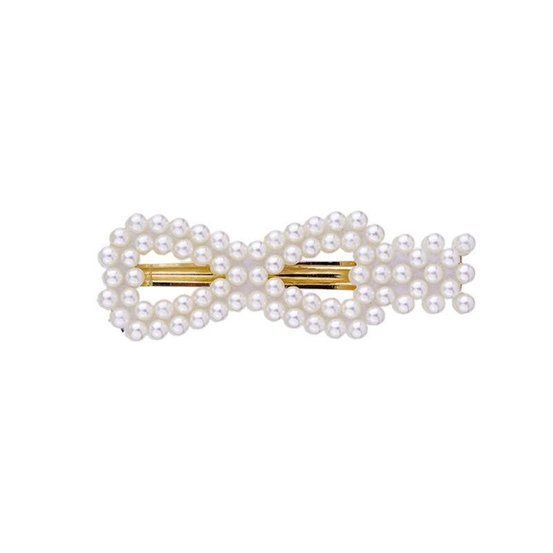 Imitation pearl side clip NHKC174947