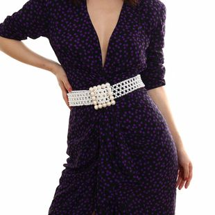 Sweet and cool wind body chain temperament imitation pearl creative belt NHXR174884's discount tags