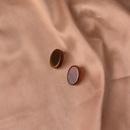 Waxy Acid Acrylic Earrings Round Stud Earrings Solid Color Earrings NHWF174873