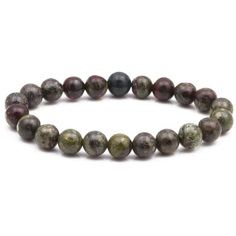 8mm Dragon Bloodstone Beaded Bracelet Natural Stone DIY Beaded Bracelet NHYL175512's discount tags