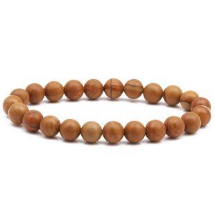 8mm wood grain bracelet natural stone DIY beaded bracelet NHYL175518's discount tags