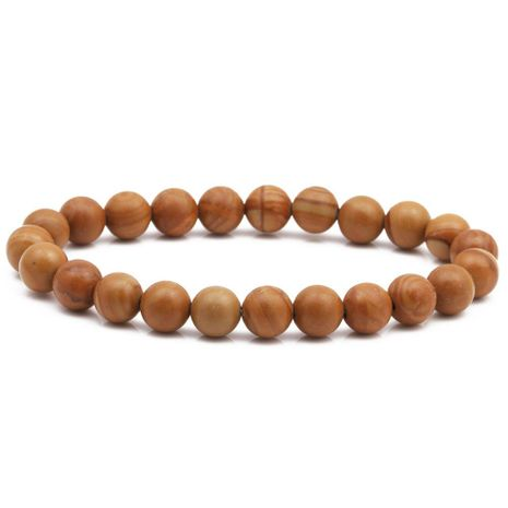8mm wood grain bracelet natural stone DIY beaded bracelet NHYL175518's discount tags