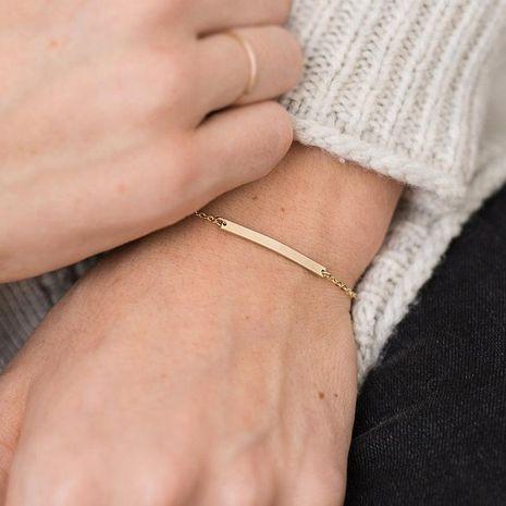 Stainless steel geometric rectangular bracelet fashion jewelry simple chain bracelet 316L jewelry NHTF175317's discount tags