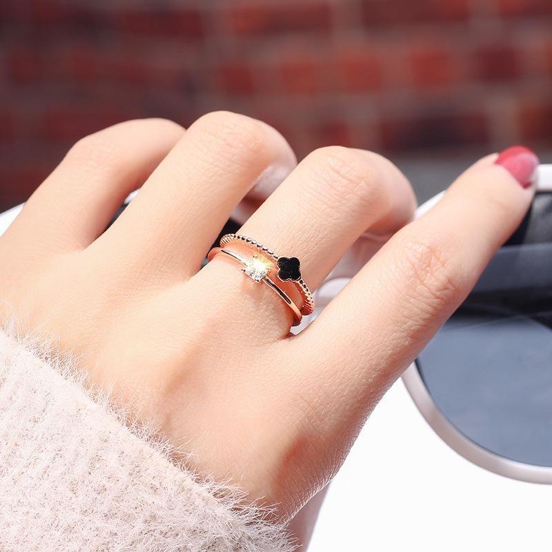 18KGP Plated Gold Zircon Ring Ring NHIM175456