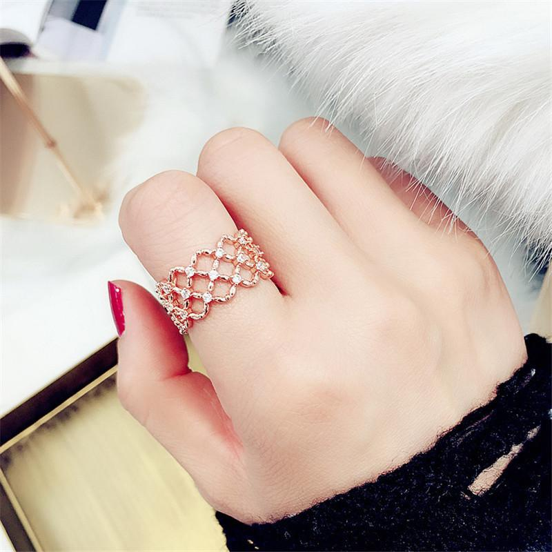 18KGP Plated Gold Zircon Ring Ring NHIM175465