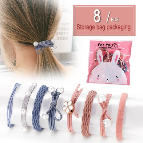 Head rope rubber band headwear small fresh leather case simple hair ring NHPJ175348's discount tags