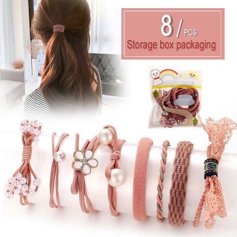 Creative bow hair rope simple hair band rubber band head rope set hair accessories NHPJ175350's discount tags