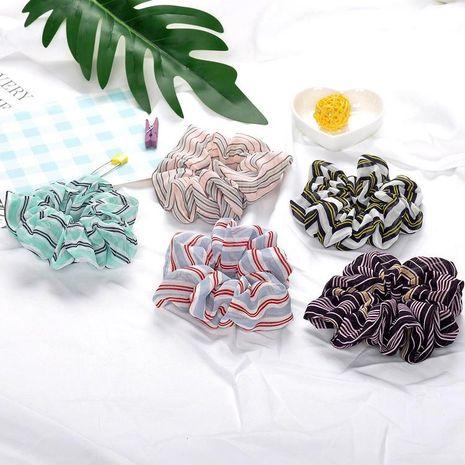 Headwear stripe rubber ring flower fabric hair ring hair rope ball head hair accessories NHOF175370's discount tags