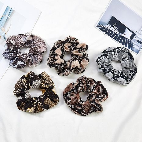 Beautiful simple striped large intestine hair ring ponytail hairpin head rope hairpin headwear NHOF175380's discount tags