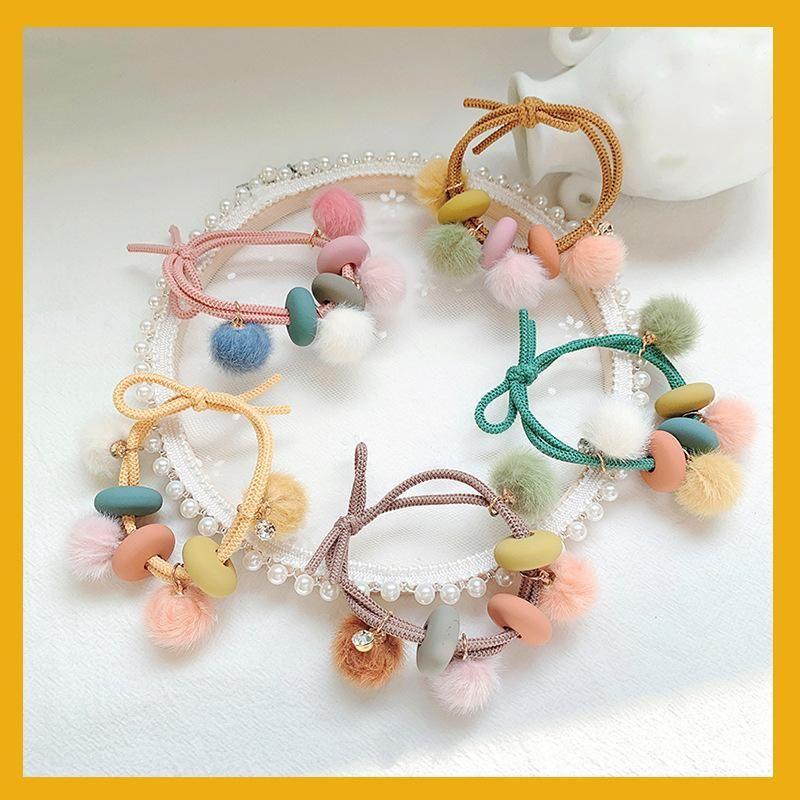 Sweet girl hair accessories cute hair ball high elastic hair rope female NHOF175366