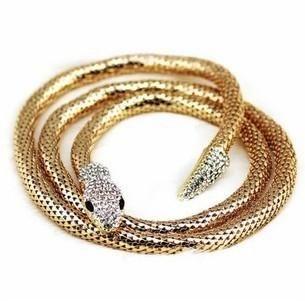 Fashion Necklace Colorful Punk Snake Necklace About 100cm Female Item NHPJ175359's discount tags