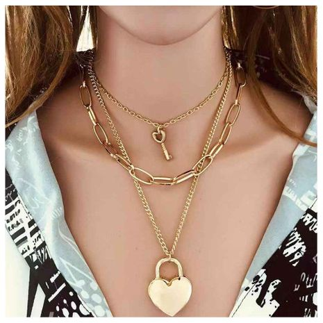 Vintage ethnic style simple love lock pendant necklace female NHCT175209's discount tags