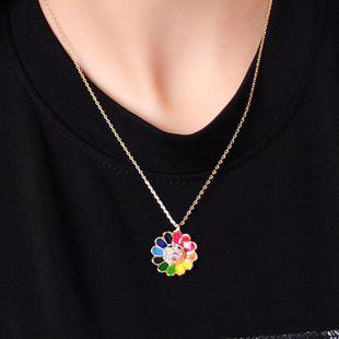 New necklace sun flower pendant fashion diamond temperament clavicle chain NHQD175420's discount tags