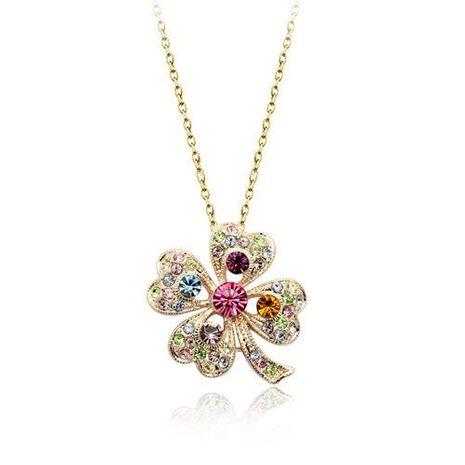 Collier en cristal de fleurs fraîches et jolies accessoires bruts de fille douce NHLJ175271's discount tags