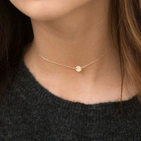 New accessories stainless steel necklace simple geometric smooth clavicle chain necklace 316L NHTF175340's discount tags