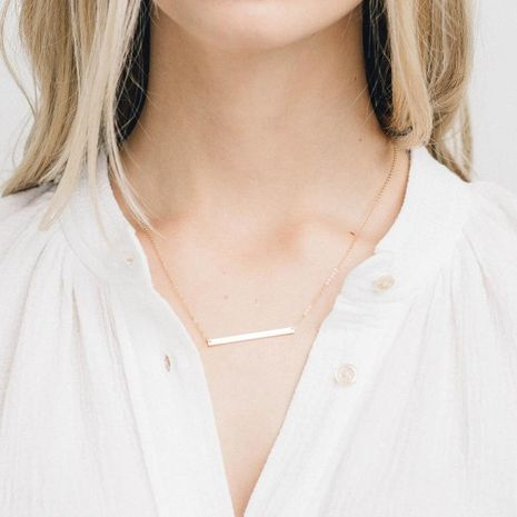 Stainless steel necklace simple pendant female clavicle chain necklace NHTF175341's discount tags