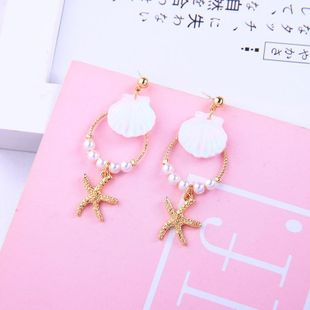 Earrings fashion starfish 925 sterling silver earrings new shell pearl earrings NHQD175390's discount tags
