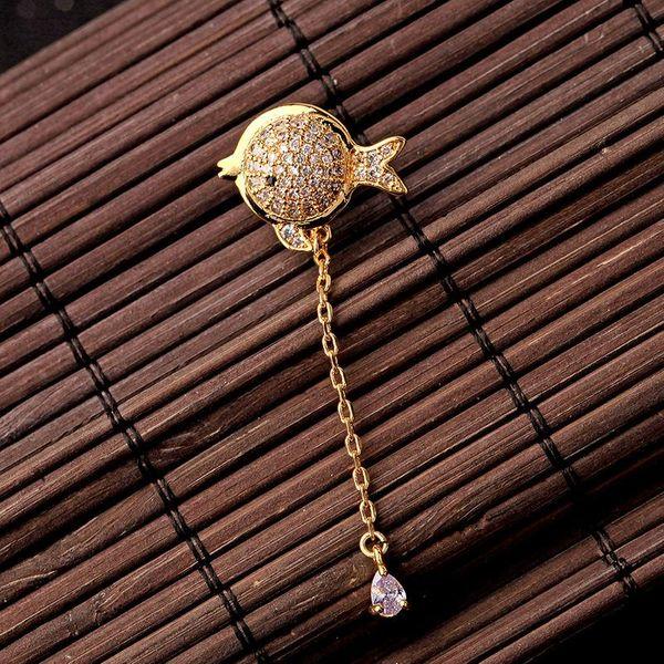 925 silver cute zircon diamond drop earrings female fashion female earrings NHQD175392