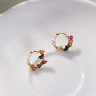 Simple diamond earrings geometric circle garland earrings new earrings NHQD175407's discount tags