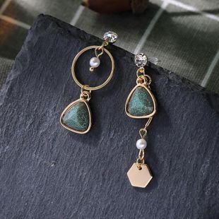 Creative asymmetric earrings geometric diamond earrings long earrings NHQD175414's discount tags