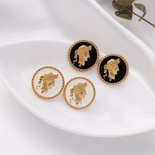 Fashion s925 silver earrings creative plating embossed earrings simple geometric earrings NHQD175415's discount tags