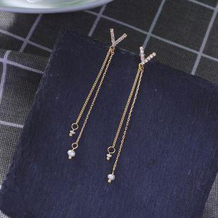 Fashion S925 silver earrings long earrings female earrings NHQD175421's discount tags