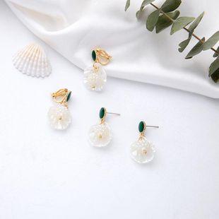 Creative Shell Pearl Earrings S925 Sterling Silver Stud Earrings Women Fashion Pierced Ear Clips NHQD175424's discount tags