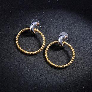 Creative minimalist geometric exaggerated circle earrings female earrings NHQD175433's discount tags
