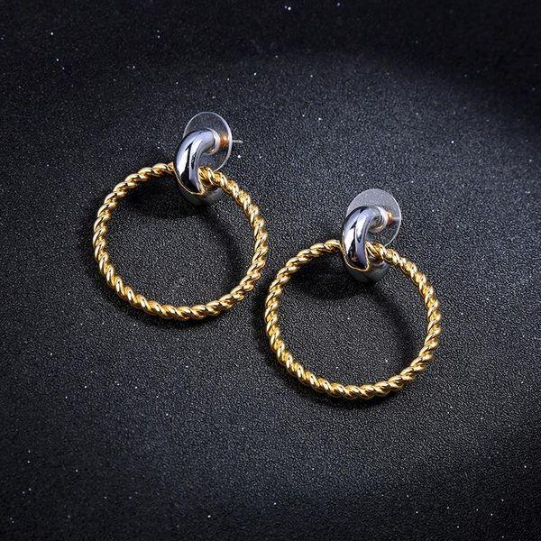 Creative minimalist geometric exaggerated circle earrings female earrings NHQD175433