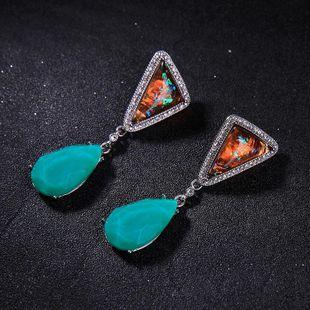 Geometric irregular triangle drop diamond earrings female fashion earrings NHQD175441's discount tags
