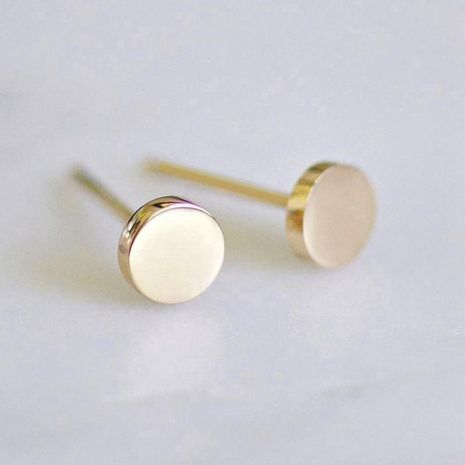Stainless steel earrings women's fashion simple round earrings smooth geometric earrings 316L accessories NHTF175304's discount tags