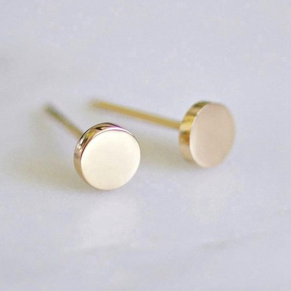 Stainless steel earrings women's fashion simple round earrings smooth geometric earrings 316L accessories NHTF175304
