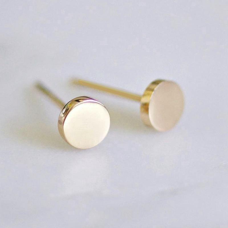 Stainless steel earrings women's fashion simple round earrings smooth geometric earrings 316L accessories NHTF175304