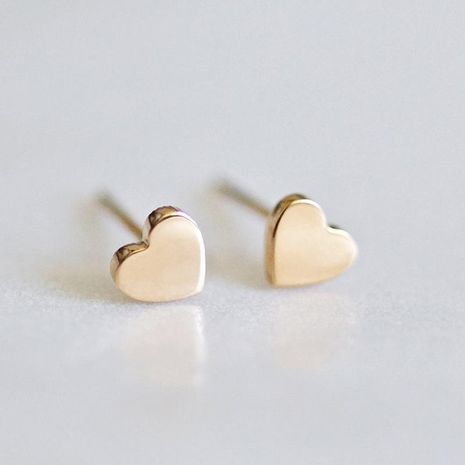 Heart-shaped earrings simple stainless steel gold-plated ladies earrings 316L accessories NHTF175316's discount tags