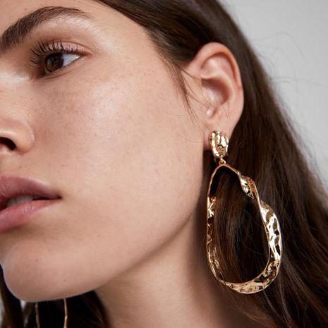 New metal earrings geometric big circle earrings NHPJ175361's discount tags