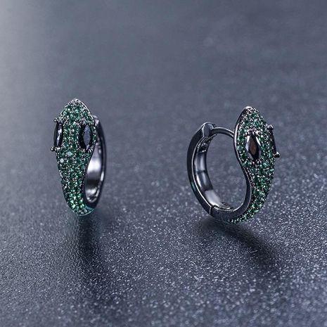 New snake-shaped earrings with delicate zircon earrings NHLJ175267's discount tags