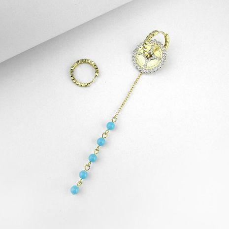 New asymmetric disc earrings gold turquoise earrings fashion earrings female NHLJ175274's discount tags