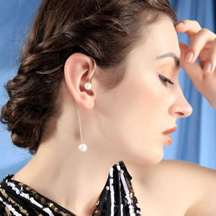 Earrings new earless earrings long pearl earrings NHQD175427's discount tags